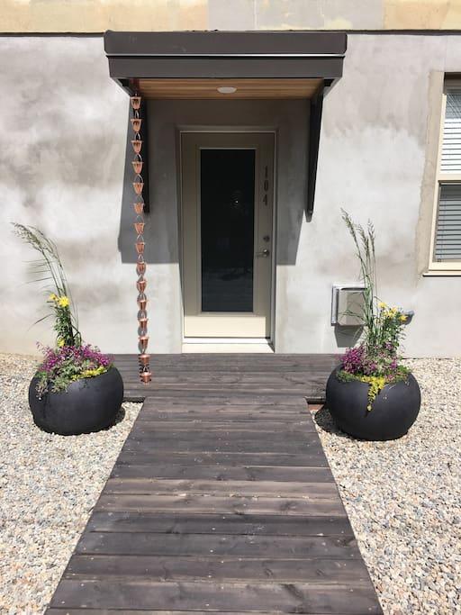 Private entrance