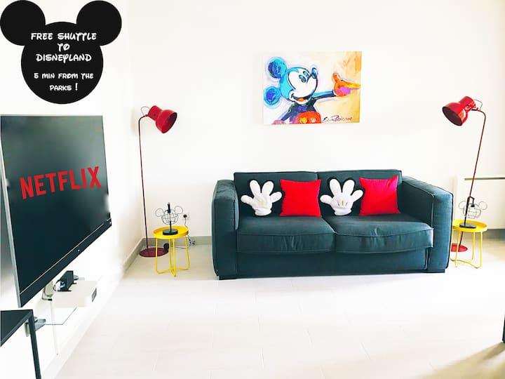 Appartement de Mickey à 5 min de Disneyland Paris