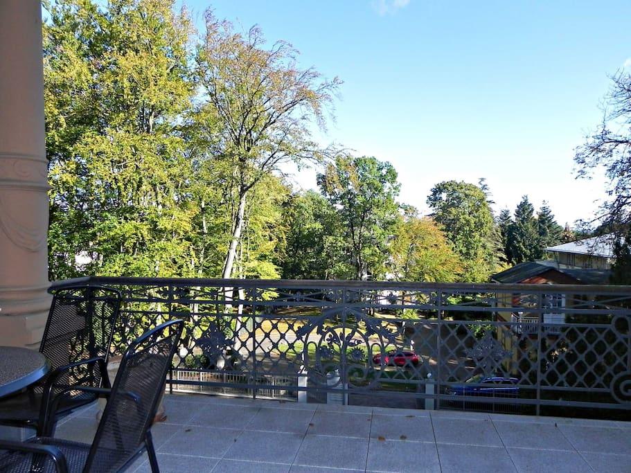 Ausblick vom Balkon der Wohnung 03