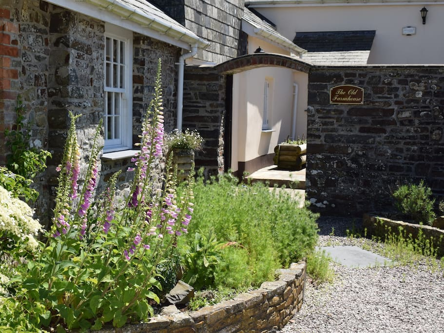 The Entrance to The Old Farmhouse's Private Courtyard