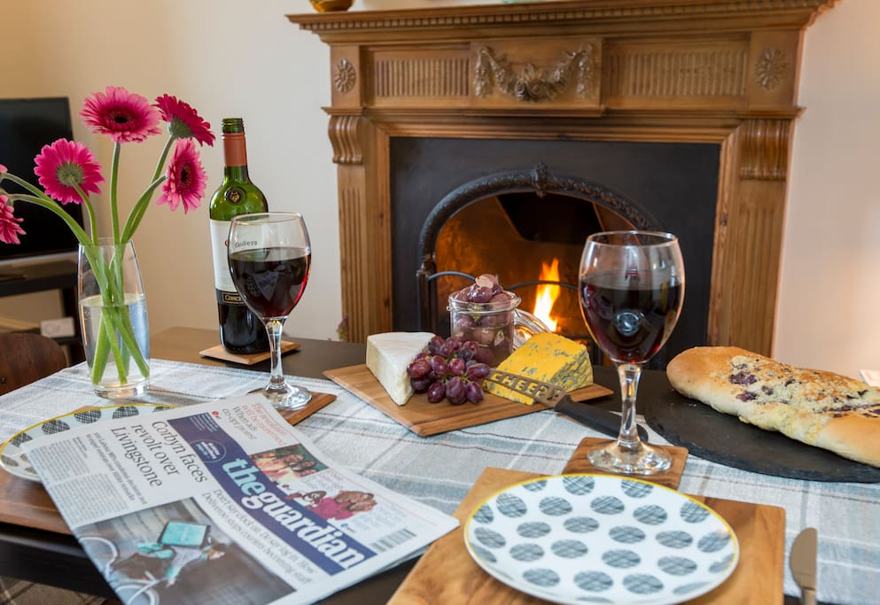 Just think you could have a glass of wine and read the papers in a relaxing space