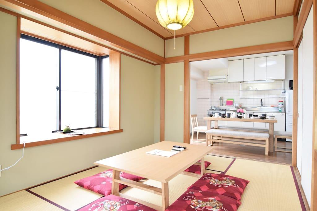 Tatami room & Living room