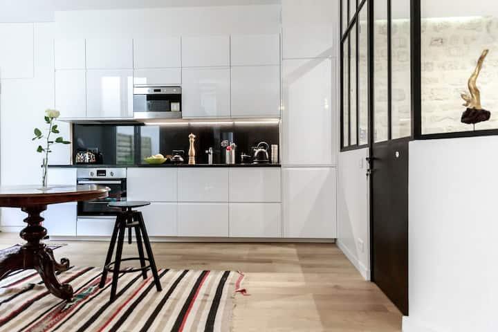 appartement neuf à Montmartre et sa cour privée