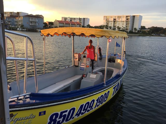 Take the boat taxi to everything at Harborwalk (extra fee applies)!