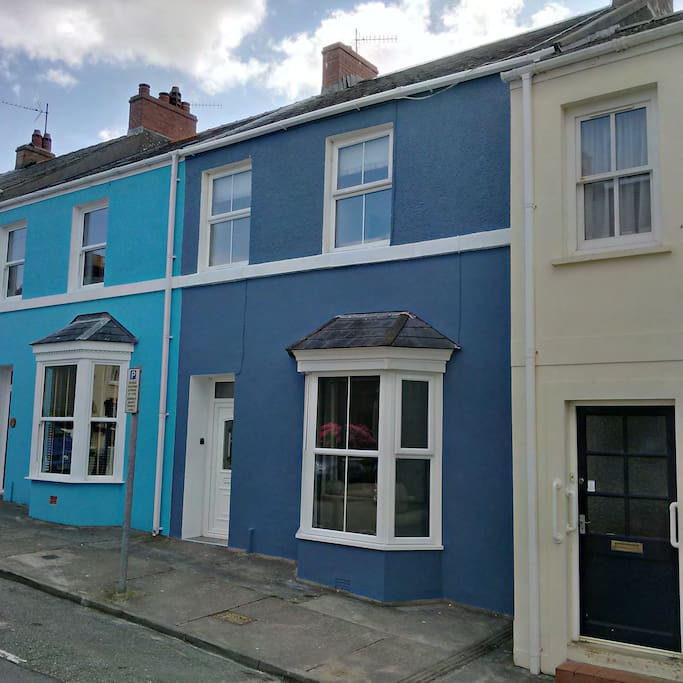 We are one of Tenby's famous pastel coloured houses