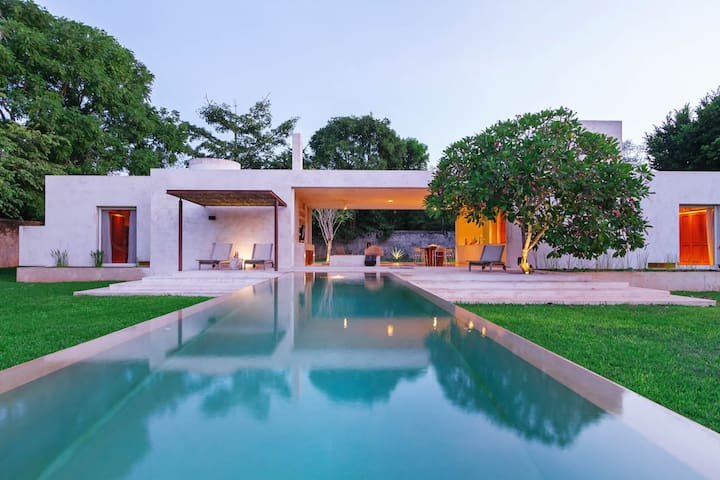 Stunning modern home base for Yucatan exploration