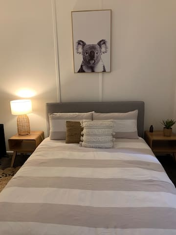 Bedroom 3 with a queen size bed and soft fluffy electric blanket and lovely linen.