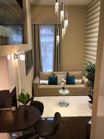 Elegant designer flat in city center with parking