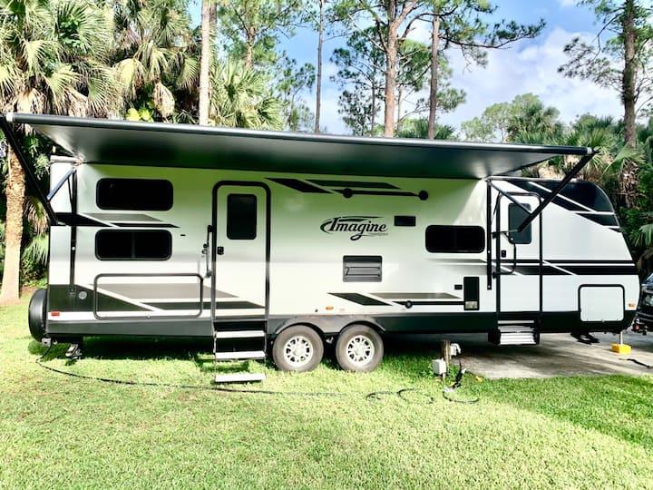 Modern Camper in Park
