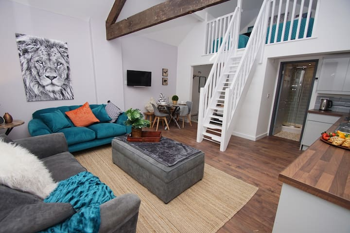 NEW GORGEOUS 2 bed loft apt for 6 close to train❤