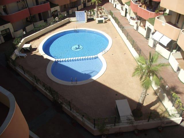 Habitacion doble Almoradi con garaje y piscina - Almoradí - Muu