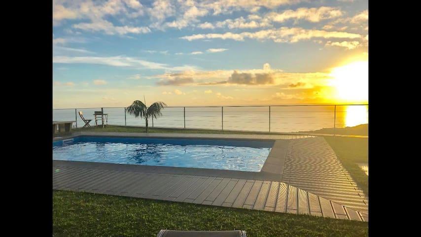Estúdio com piscina e vista panorâmica - Estreito da Calheta - อพาร์ทเมนท์