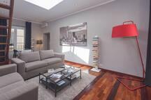 Appartamento 13 Porto Antico Suite Genova - Panoramica soggiorno