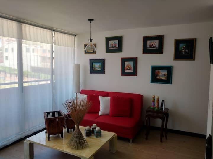 Cómodo apartamento en la sabana de Bogotá