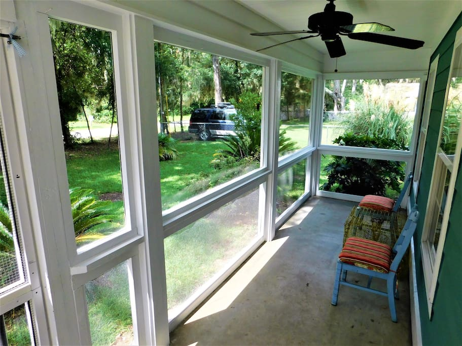 Enjoy your morning coffee or evening wine or iced tea on the front screened porch.