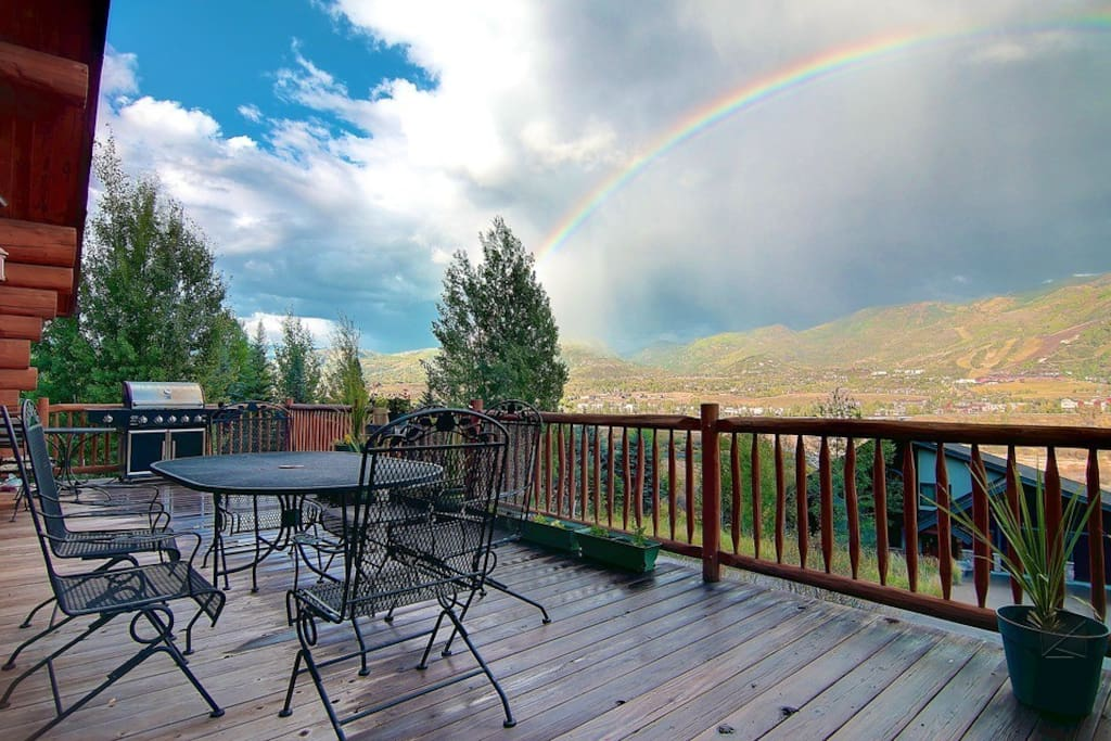While we can't promise a rainbow, we can promise you'll love grilling and hanging out on the back deck.