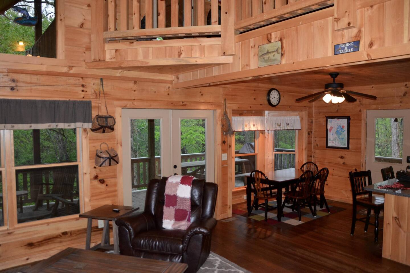 peaceful 3 bedroom loft nestled in the woods cabins for rent in
