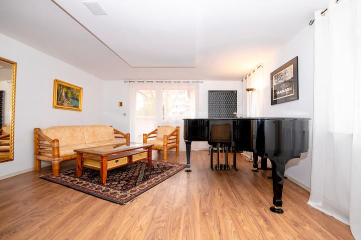 Spacious artistic house with piano ★free parking★