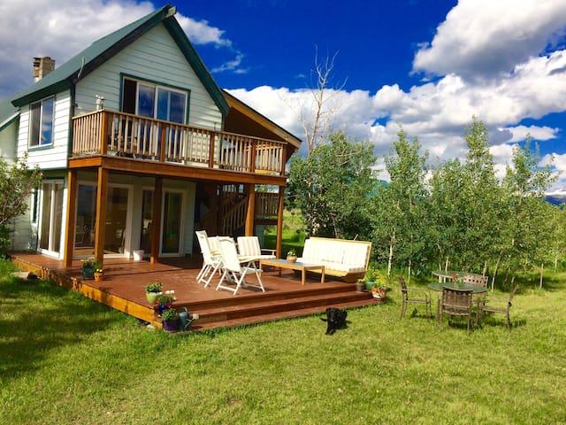 Country Farmhouse with Full Teton Views