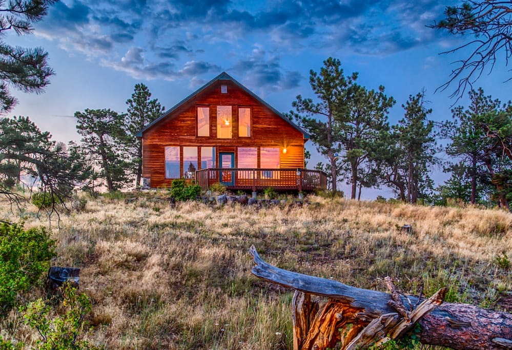 Peaceful cabin on 35 acres cabins for rent in livermore for Cabin rentals near fort collins colorado
