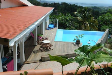 Villa avec piscine privative/location voiture - Le François - Casa