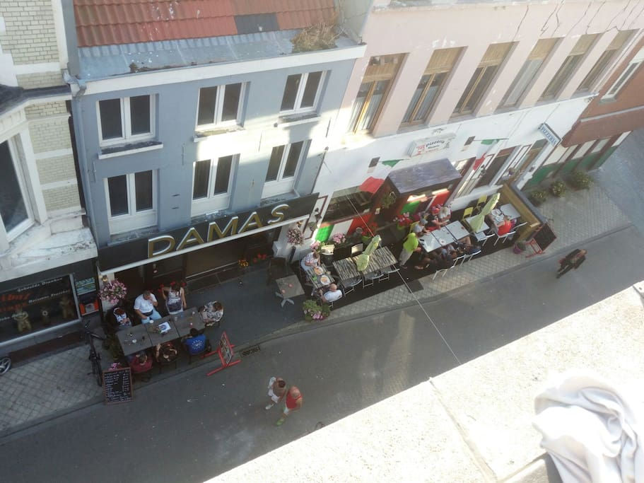 A Thai, Syrian, Italian and a Greek Restaurant. View from front terrace.