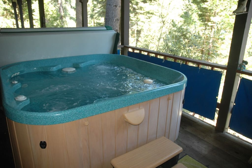 Hot Tub,  always hot and ready for your use.
