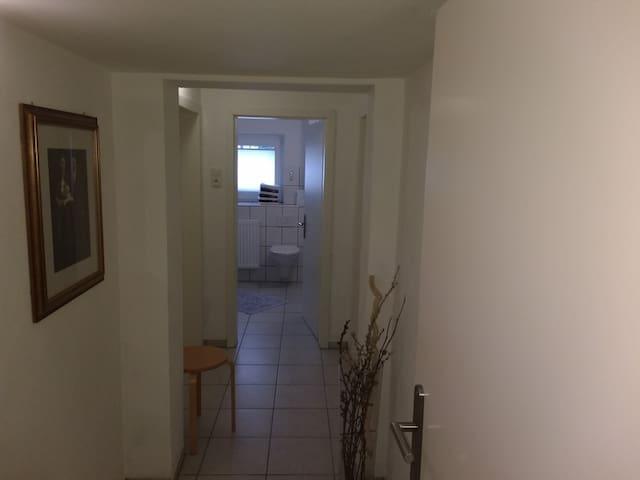 Flur zu den Zimmern