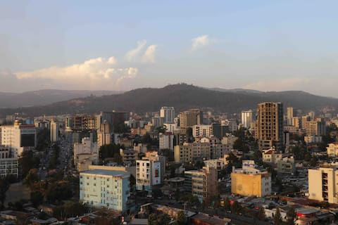 The City Sunset View of Addis Ababa