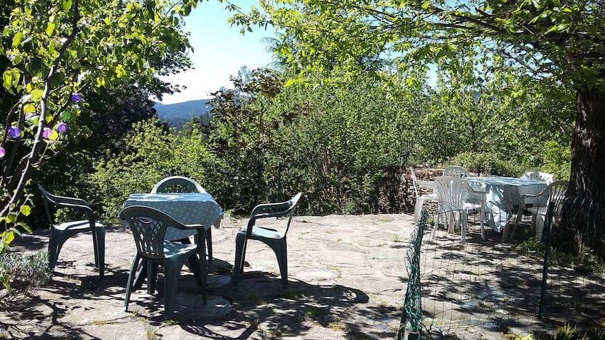 Terrasse ombragée pour déjeuner ou dîner!