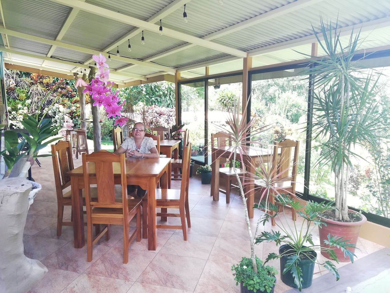 Guest Terrace - Guest have terrace access day and night even while it rains.  Terrace is a one level  structure without stairs to climb. Guest can have breakfast, converse, play games and eat their late night snacks while sitting in the terrace.