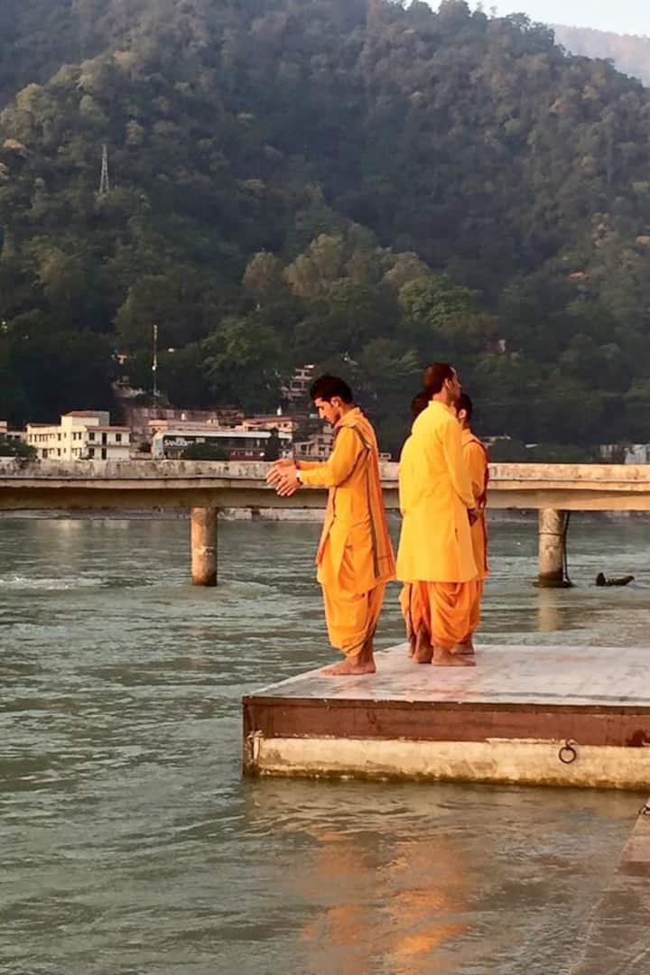 Hindu Prist on the  Bank of Ganga