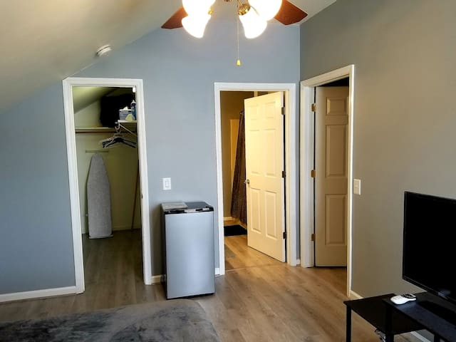 Direct access to your own walk-in closet and Master Bath