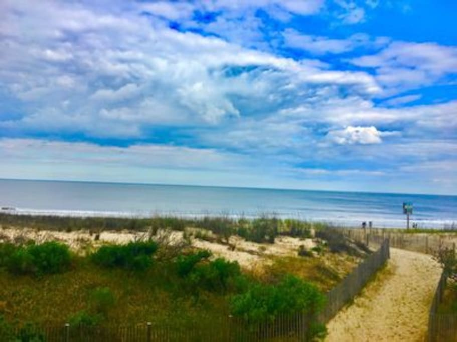 Gorgeous clouds and beach view from condo
