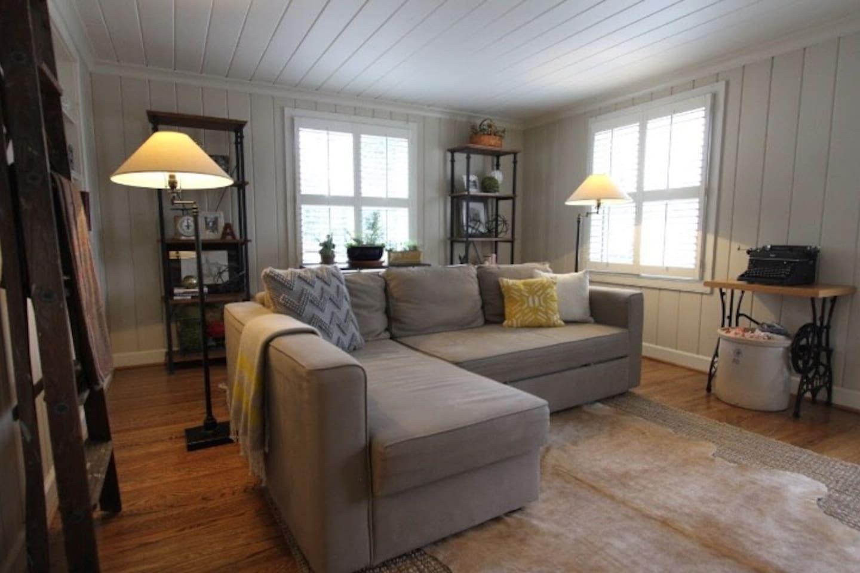 Family room with sleeper sofa