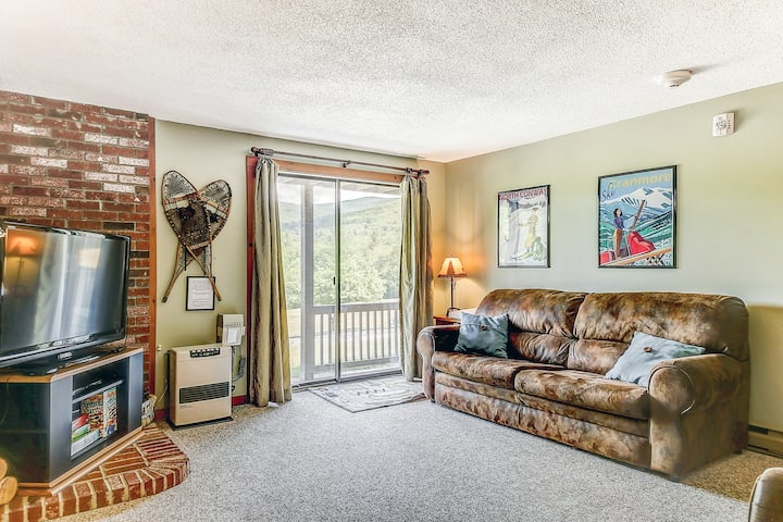 Mountain view condo near downtown w/ AC, grill, WiFi & shared pool/tennis!