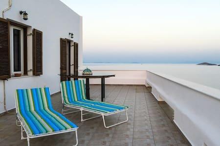 Aegean sea view in Syros island, GREECE - Ermoupoli