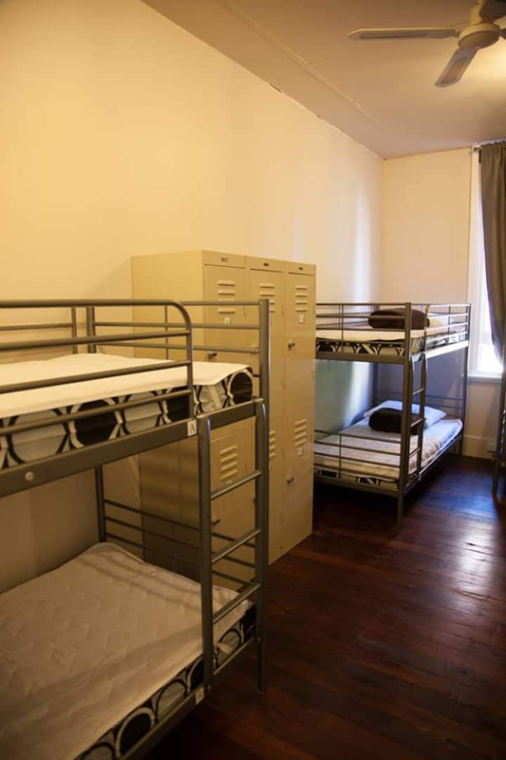 1 Bed in 8 Bed Female Dormitory