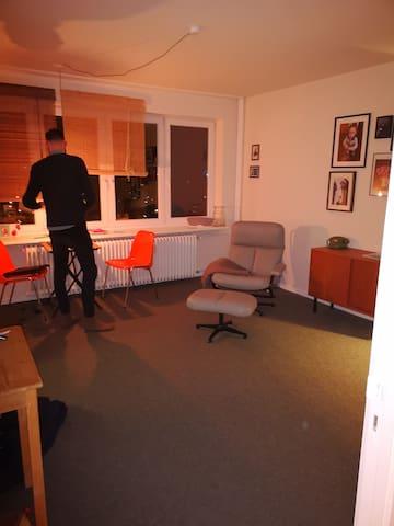 Kleine fast leere 1 Zimmer Wohnung mit Balkon