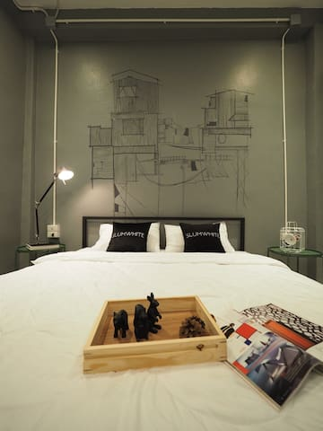 Design double room ensuite JJmarket /BTS /Aree ❤️