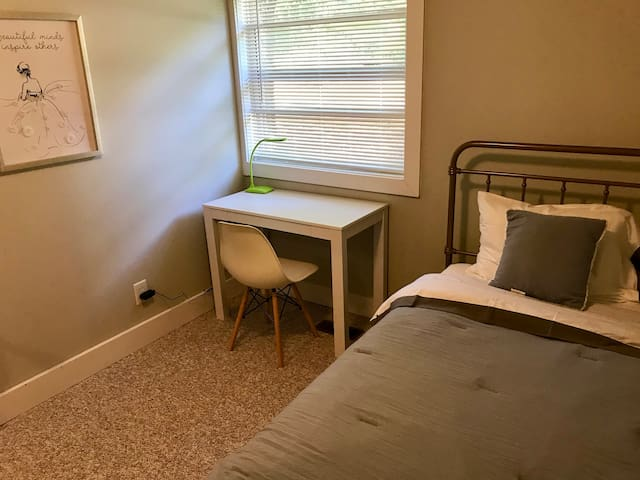 #3 Bedroom Upstairs with Twin Bed and Desk