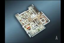 Fabuloso depto de lujo 200 m2 , servicio de mucama