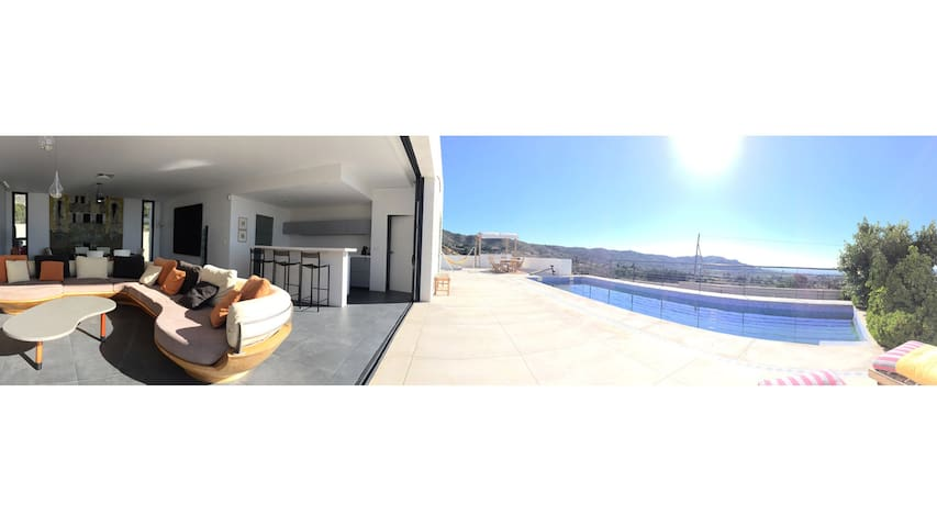 Private Villa with Amazing View, Pool & Spa - ALICANTE, BUSOT - Villa