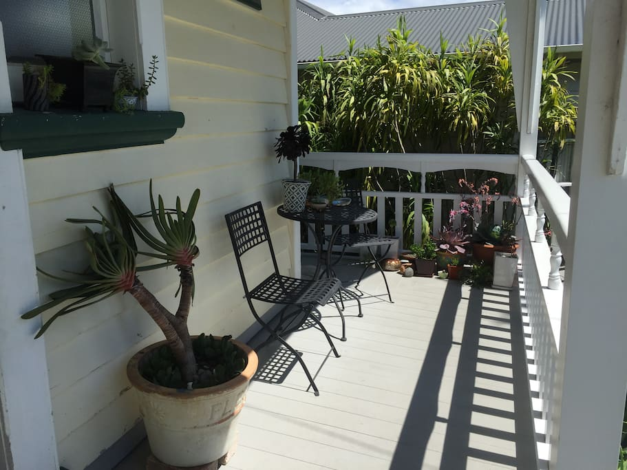 You are welcome to relax and read, or have your breakfast on this verandah which is especially reserved for our guests (although sometimes our doggy Daisy will join you if you'd like her to).
