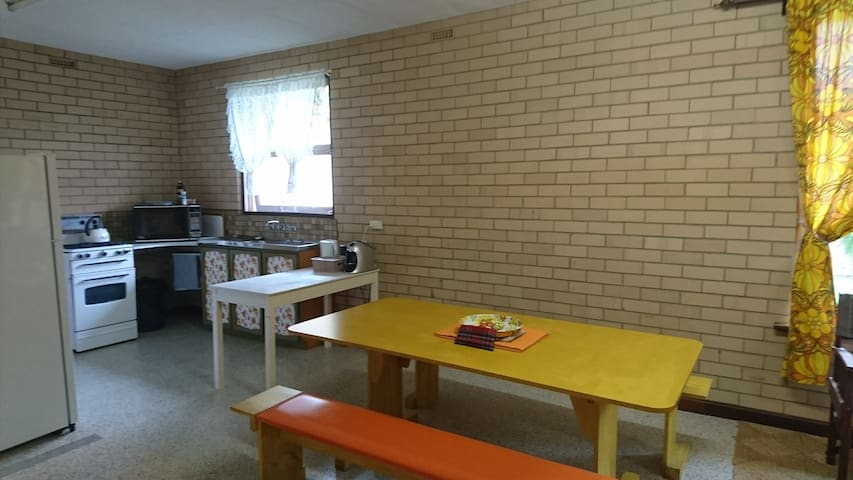 Meals and Kitchen area adjacent to Living area