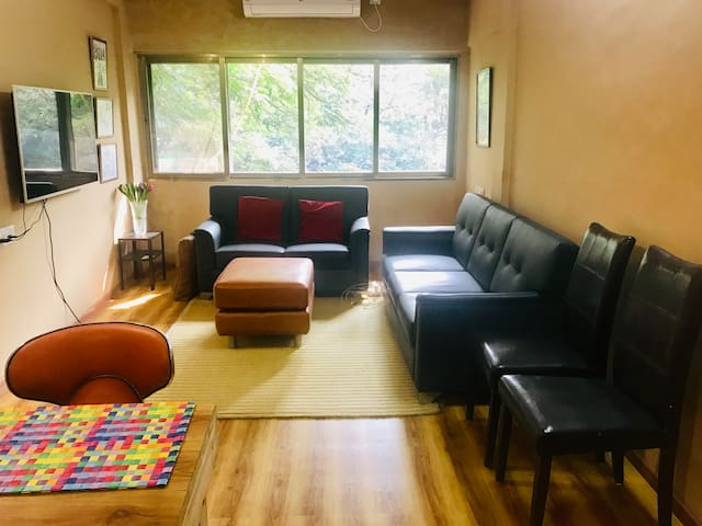 One bedroom in a newly renovated apartment