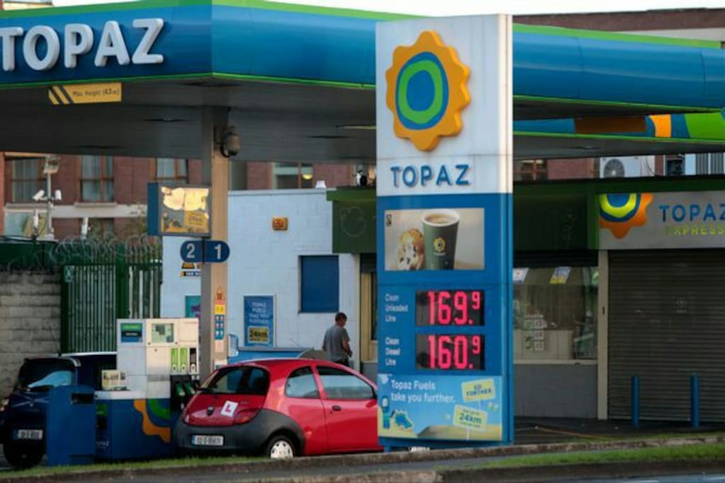 TOPAZ Fuel station Ushers Quay. Ideal for refuelling if you have a rental car.