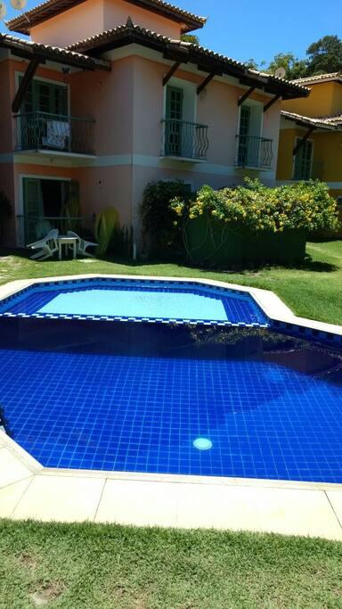 Vista piscina duas profundidades