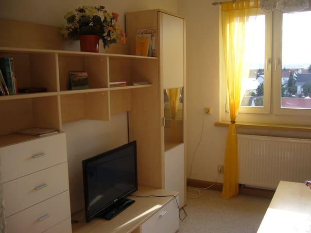 Helle Ferienwohnung mit Weitblick - Mittelherwigsdorf - Apartment