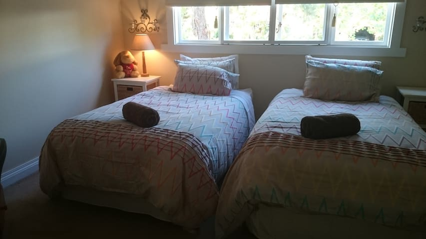 Sunny room with 2 King single beds - Surrey Hills